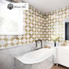 bisazza glas spiegel mosaik tapete kunst muster fliesen badezimmer wand backsplash fliesen küche mosaik deco gold silber fliesen