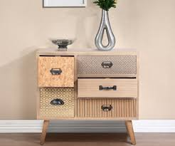 Retro Handmade Wooden Cabinet Rustic Style Storage Drawers Living Room Bedroom