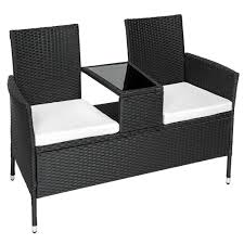 banc canapé salon de jardin banc de jardin canapé avec table intégrée tectake