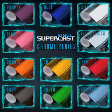 100 Chalks Truck Parts 11 Color Supercast Easy Stretch Chrome Glossy Vinyl Wrap Air Free