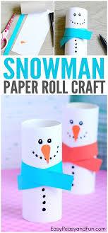Paper Roll Snowman Craft