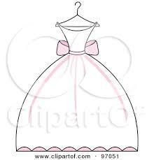 Wedding Dress Cartoon Pink Wedding Dress Hanger Clipart Clipart