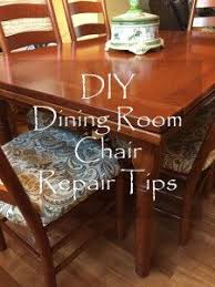 DIY Dining Room Chair Repair Tips By Sabrinas Organizing Furniture Seat Cushion Home Tutorial