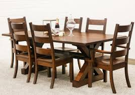 Auburn Trestle Table With 6 Western High Back Chairs - Auburn Trestle Table  With 6 Western High Back Chairs Outdoor Poly Lumber Fniture Amish Outlet Gift Shop Remarkable Deal On A L Western Red Cedar High Back Side Chair Details About Mission Arts And Crafts Recliner Ikea Henriksdal Brown Frame In 2019 Ikea Royal English 2 Ft Swing With Chains Lorec Ranch Home Furnishings 2xhome Natural Wishbone Wood Arm Armchair Modern Woven Seat Ding Room Hickory Panel Berlin Gardens Garden Bench The Company This Oak House Handcrafted