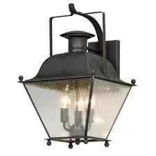 seeded glass outdoor wall light iron troy lighting b5072ci