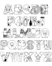 Crazy Zoo Alphabet Coloring Pages ABC Coloring Pages