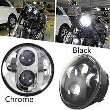 Harley Davidson Light Bulbs by 5 3 4 5 75 U0027 U0027 Inch One Piece Led Headlight Bulbs Fits Harley