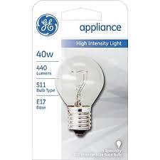 40 watt ge s 11 high intensity incandescent bulb clear staples