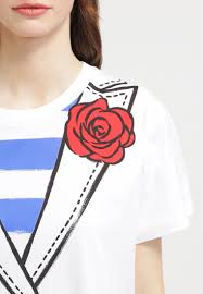 women tops boutique moschino print t shirt white moschino belt