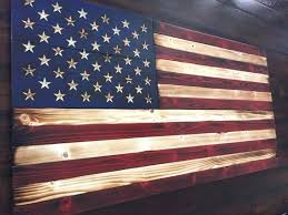 Cool Wooden American Flag Decor Rustic Wood Painted Wall Art
