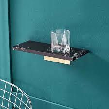 marmor schwimmende regal wand dekor ecke regal für home küche schlafzimmer bad büro