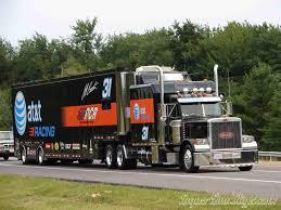 100 Jayski Trucks Jeff Burton 31 Att Hauler NASCAR Haulers Semi Trucks