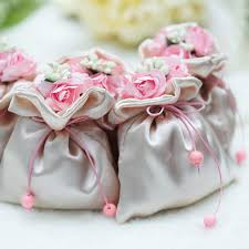 Pink Small Gift Bags Wedding Favor Holders Creative Cute Box
