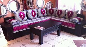 tissu canapé marocain salon marocain le choix du tissu d ameublement de votre salon
