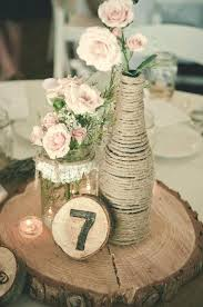 Vintage Wedding Decor Table With Jars Filled