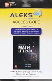 ALEKS 360 For Pathways To Math Literacy 11 Weeks Access Card