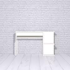 micke desk with shelves panyl
