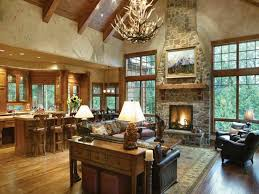 Open Concept Ranch Style Living Room
