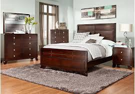 lena lane 7 pc queen bedroom queen beds dark wood