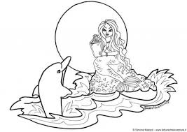 Coloring P Site Image Mermaid And Dolphin Pages