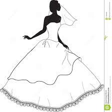 Wedding Dress Clipart Vintage