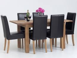 Kmart Jaclyn Smith Patio Furniture by Kitchen Dining Table W 6 Plain Wooden Seat Chairs No Bench Sku