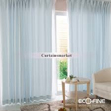 room and bedroom 2 panels light blue sheer curtains