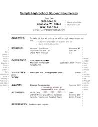 College Grad Resume Examples Student Sample For High School Students With No Experience 2017