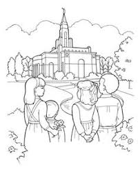 LDS Coloring Pages I Love To See The Temple As Song Goes