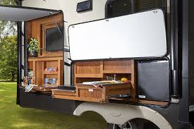 5th Wheel Campers With Bunk Beds by Flooring Camper With Outdoor Kitchen Eagle Fifth Wheel Camper