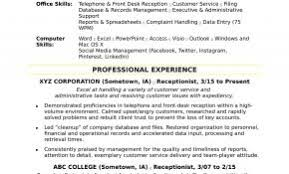 Bilingual Receptionist Resume Examples Luxury Receptionists Free Download
