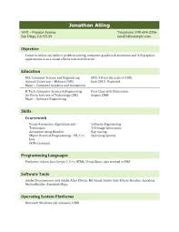 Computer Science Graduate Resume Student Elegant Examples For Engineering Students Free Of