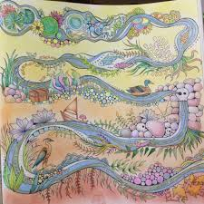 Johanna Basford Coloring Book Basfords Enchanted Forest Muji And Faber Castell Colorpencils