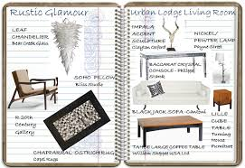Rustic Glamour Urban Lodge Living Room Look Book