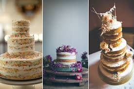 Rustic Wedding Cake No Frosting