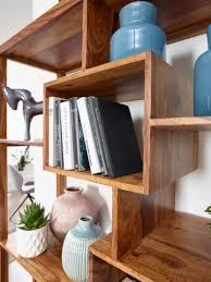 bücherregal mumbai massiv holz sheesham 115 x 180 cm wohnzimmer regal ablagefächer design landhaus stil standregal