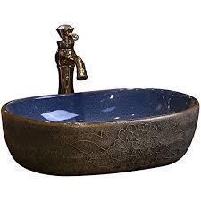 badezimmer oval waschbecken retro creative jingdezhen