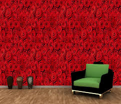 Red Rose Flowers Wall Mural Decor Photo Wallpaper