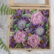 2018 1 BoxRomantic Flowers Box Quilling Paper Flower Diy Decoration Wedding Gift From Alxsye 8276