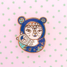 Mama Bear Enamel Pin Tattoo Mum Gift And Baby New