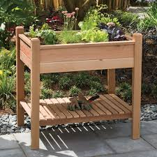 elevated garden box learn how to build a u shaped raised garden