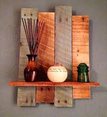 Wooden Rustic Shelves Posts Painted Pallet Decorative Wall Shelf Antique Wood By