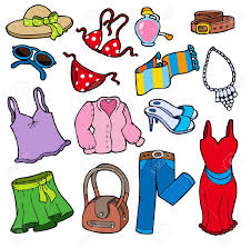 Clothes We Wear In Summer Clipart