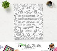 Printable Coloring Page Bible Verse Proverbs 3125