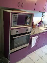 meuble cuisine four plaque colonne de cuisine pour four et micro onde wasuk