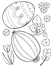 Eggs Coloring Pages For Kids Free Printable Easter Religious Childrens Preschool