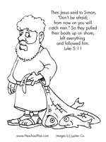 Here Is A Bible Coloring Page With The Verse From Luke 511 In Upper Corner