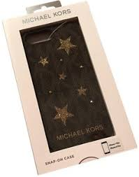 Michael Kors Brown Leather Snap Gold Case Iphone 7 8 Plus Tech