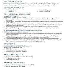 Carrer Objective Resume Samples Fresh Graduate For Administrative In Sample Information Technology