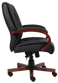 Tall Office Chairs Amazon by Amazon Com Boss Office Products B8996 C Mid Back Executive Wood